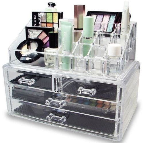 This acrylic makeup organizer is perfect for makeup lovers. Fit all of your pale...