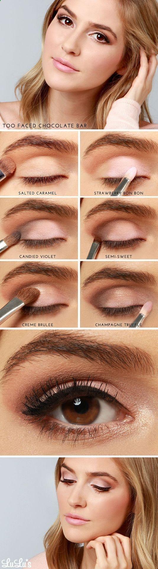 Too Faced Chocolate Bar. Soft day eye makeup tutorial #evatornadoblog | gnarlyha...
