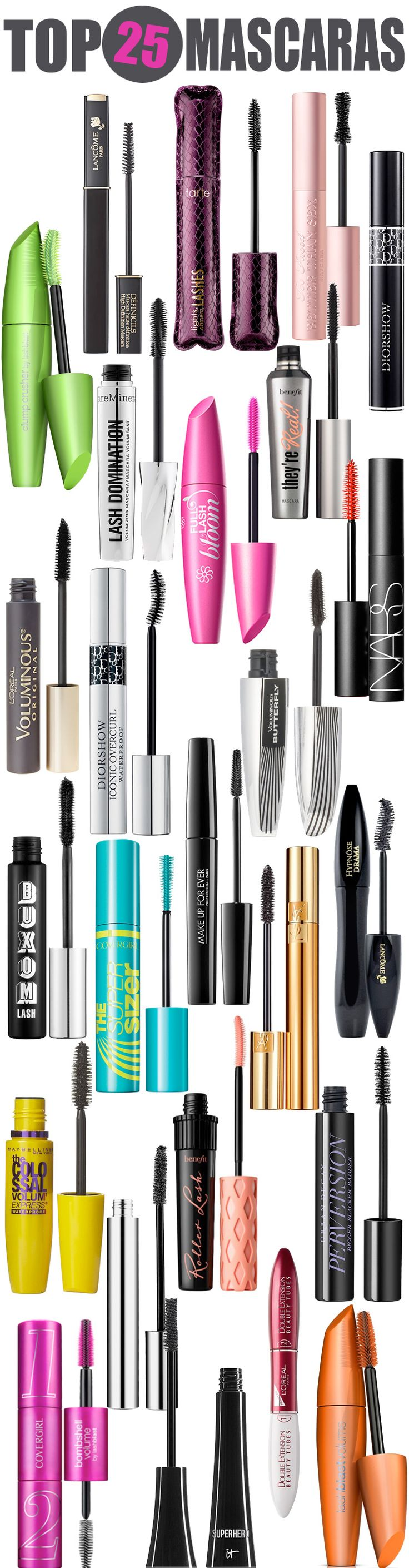 Top 25 Mascaras — From drugstore mascara to department store mascara, this lis...