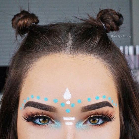 Tribal Warrior | 17 Summer Festival Makeup Ideas for Teens and the Coachella bou...