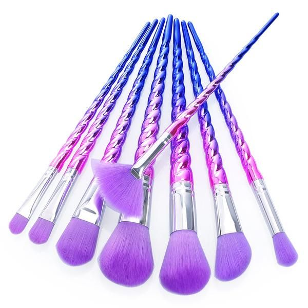 Unicorn makeup brushes are HOTTER than ever and we have these fabulous purple on...