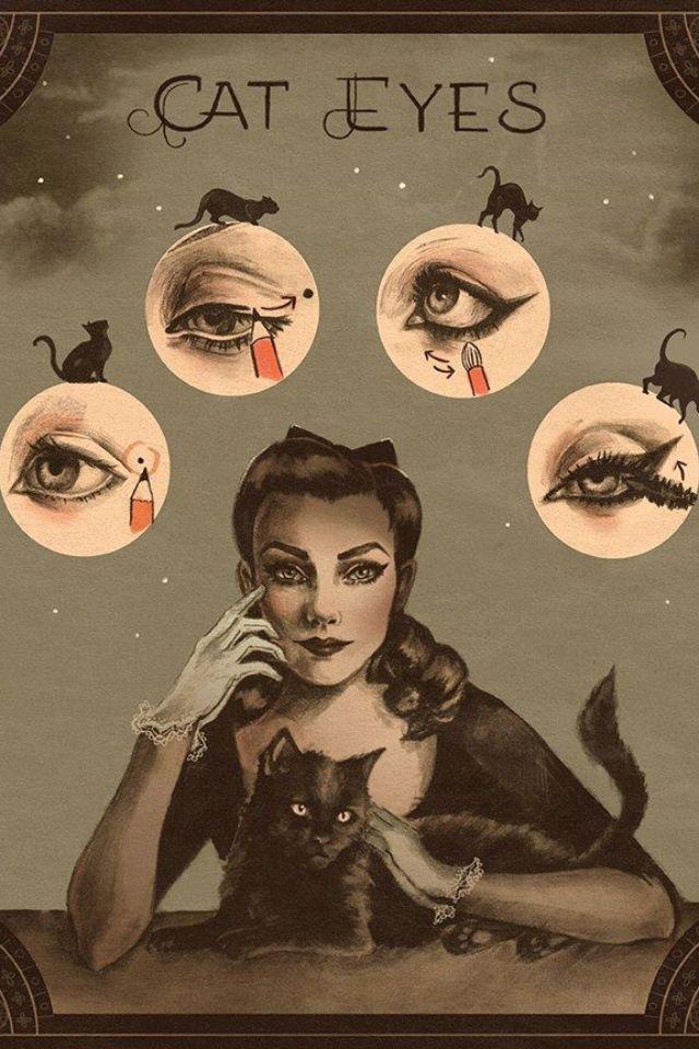 Vintage make up tutorial. So cool¡...