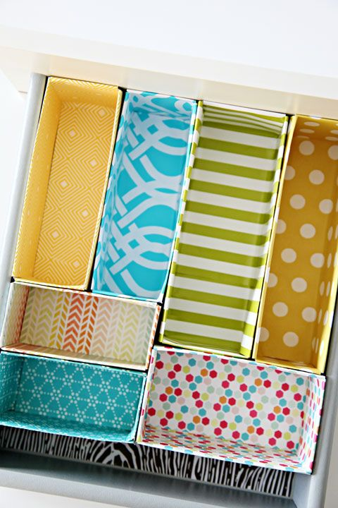We love recycling and we love organizing. So save those cereal boxes and use the...