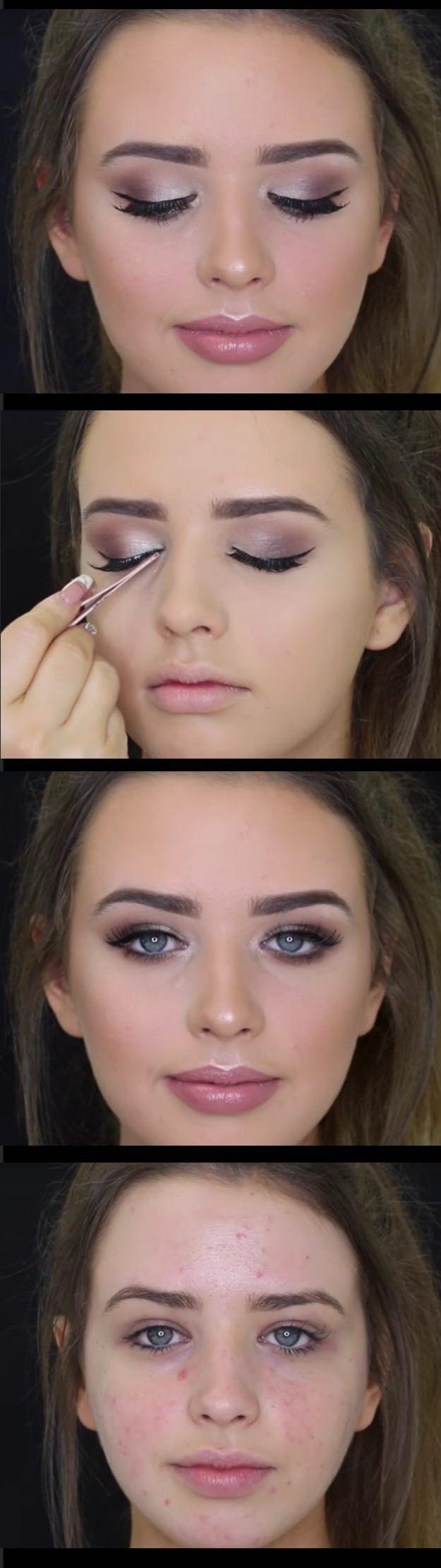 Wedding Makeup Ideas for Brides - Bridal Inspired Makeup Tutorial - Romantic mak...