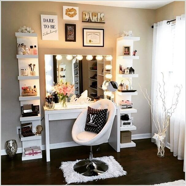 You can choose corner DIY vanity table too, it not only save your space but also...