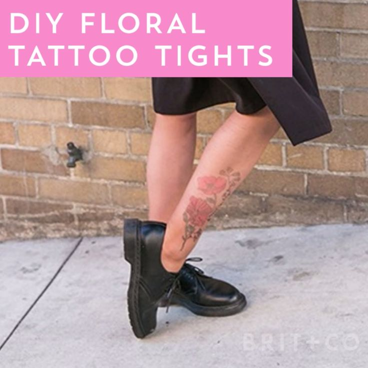 You can make a pair of tattoo tights with this next-level style DIY video tutori...