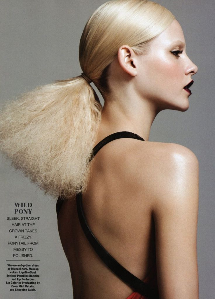 Ginta Lapina for Allure July 2011 Hair Editorial by Nicolas Moore 1