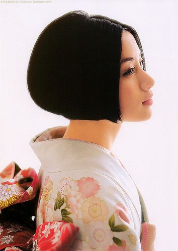 Kimono with bob hair