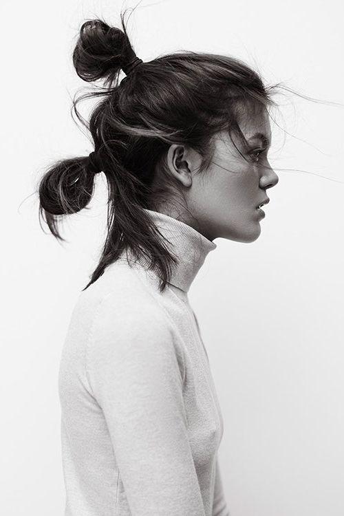 messy hair…