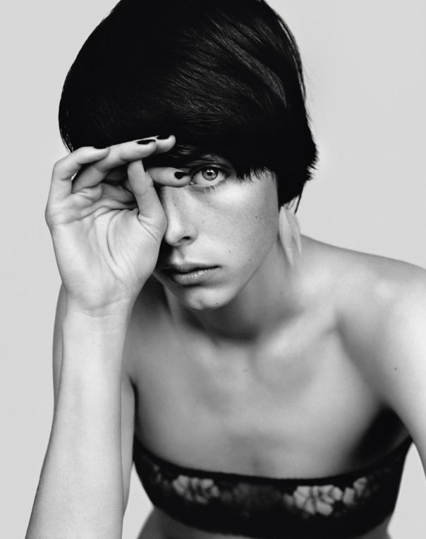 Style: Minimal + Classic: Great short hair: i-D Pre-Spring 2014 | Edie Campbell ...
