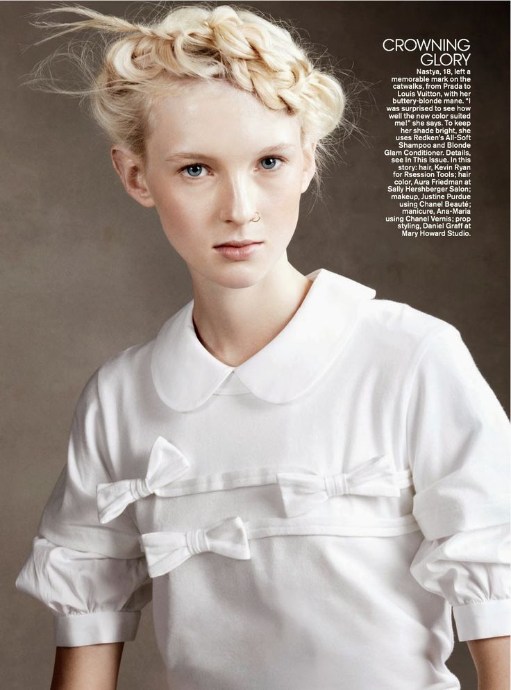 Teen Vogue 3.0 blonde fashion spread, platinum hair