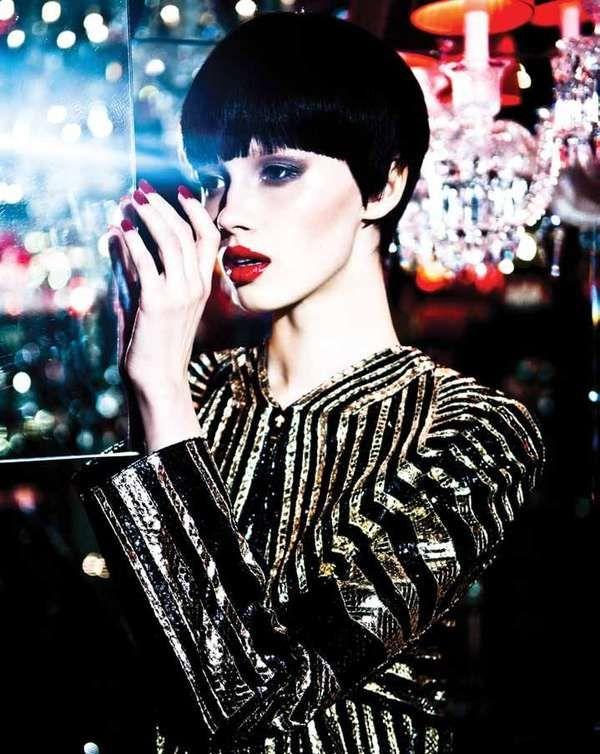 The Mojeh Magazine March/April 2012 Mordonova Photoshoot is Metallic #fashion tr...