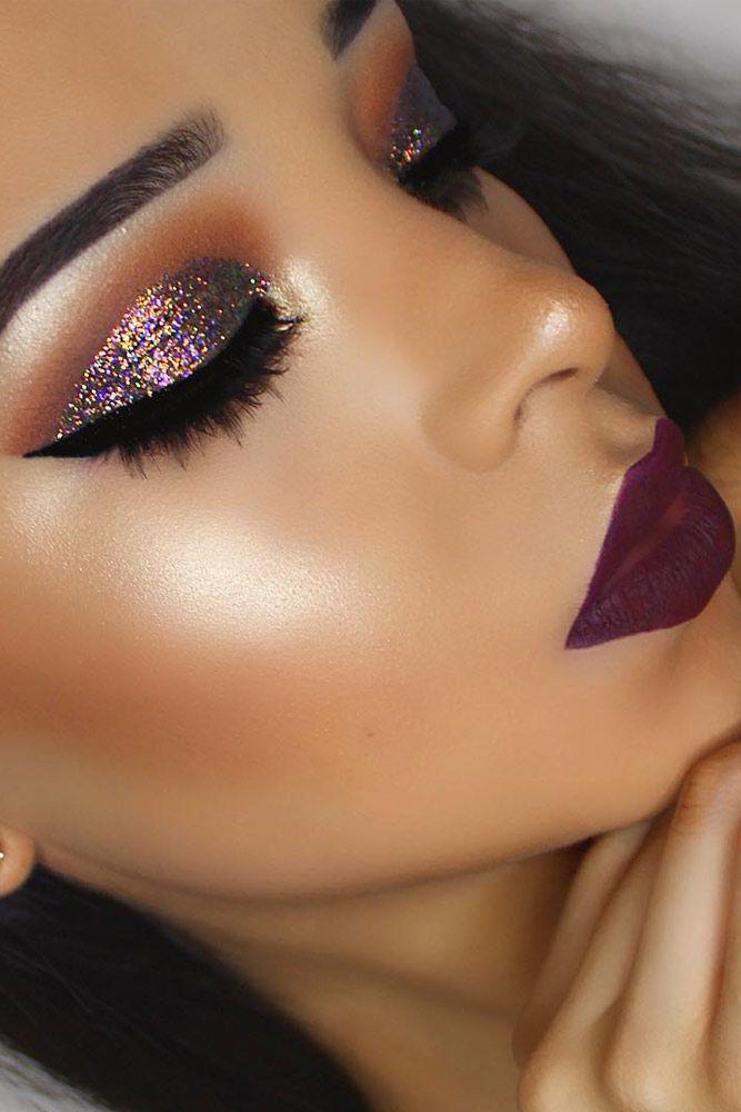 Amazing Glitter Christmas Makeup Ideas ★ See more: glaminati.com/...