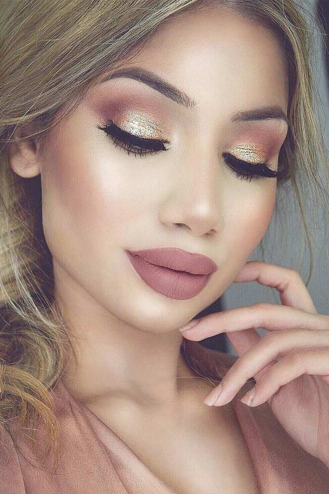 Charming Rose Gold Makeup Looks from Day to Night ★ See more: glaminati.com/.....
