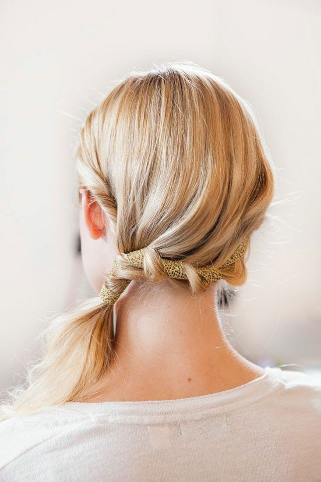15 Holiday Party Hairdos That Take 10 Minutes or Less via Brit + Co.