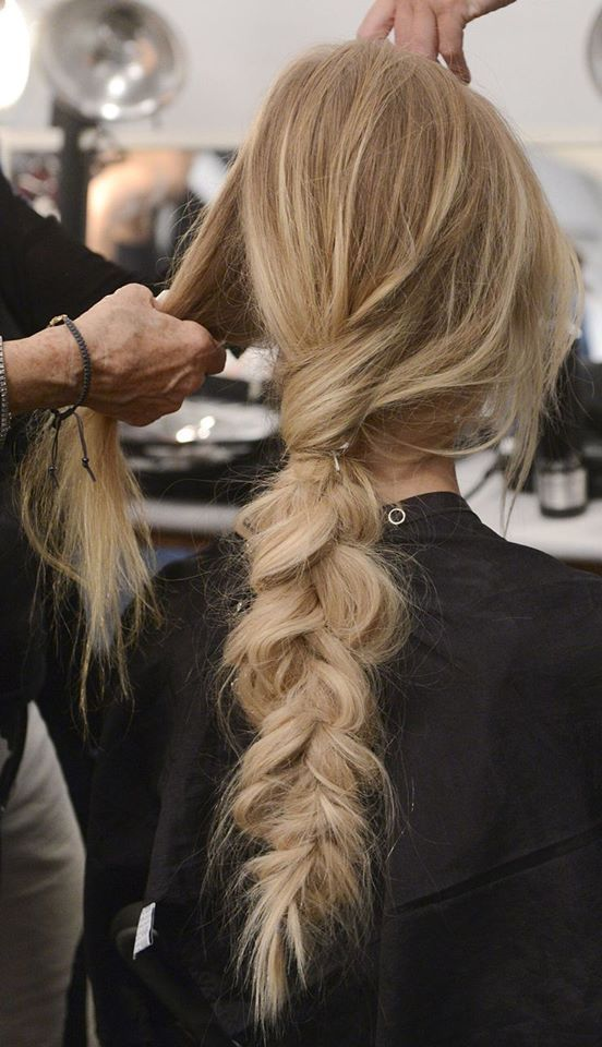 beautiful blonde color and a gorgeous braid styled here at Canale Salon. Book yo...