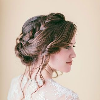 Braided updos are so pretty!