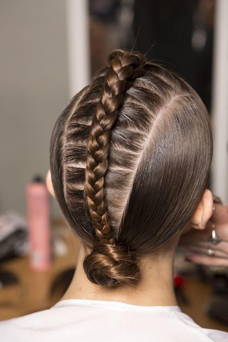 Close up of the hair from Tata Naka at London Fashion Week. Hair by Internationa...