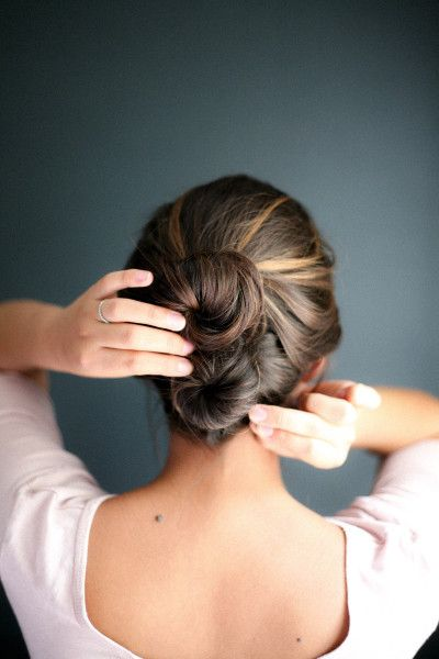 Double bun updo: www.stylemepretty...