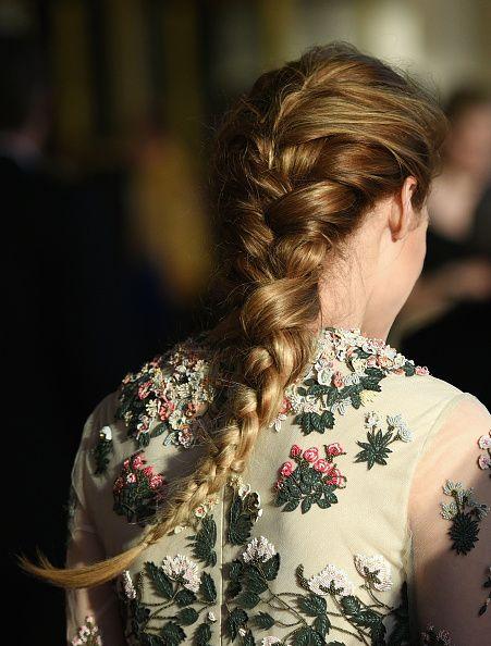 French braid into 4-strand braid - pretty!