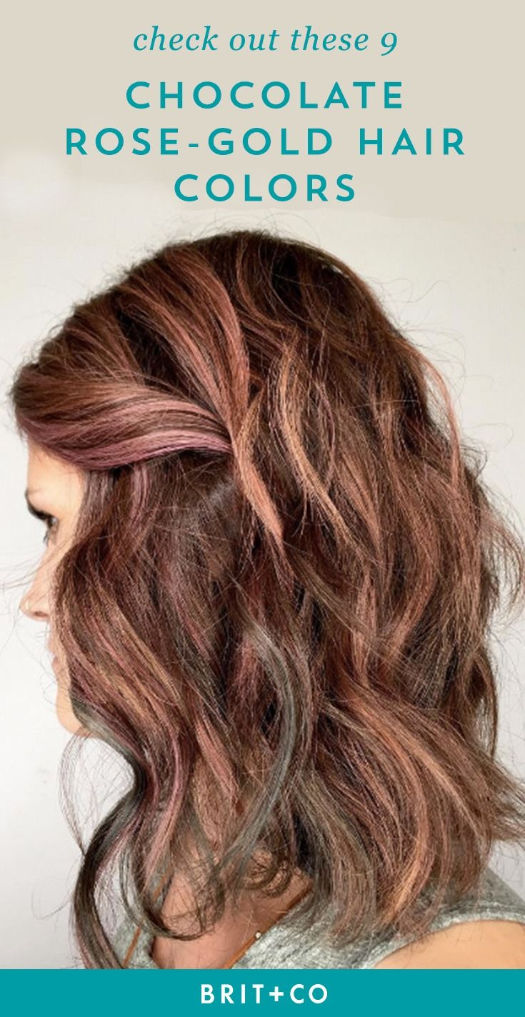 Get inspired for your next 'do with these 9 chocolate rose-gold hairstyles.