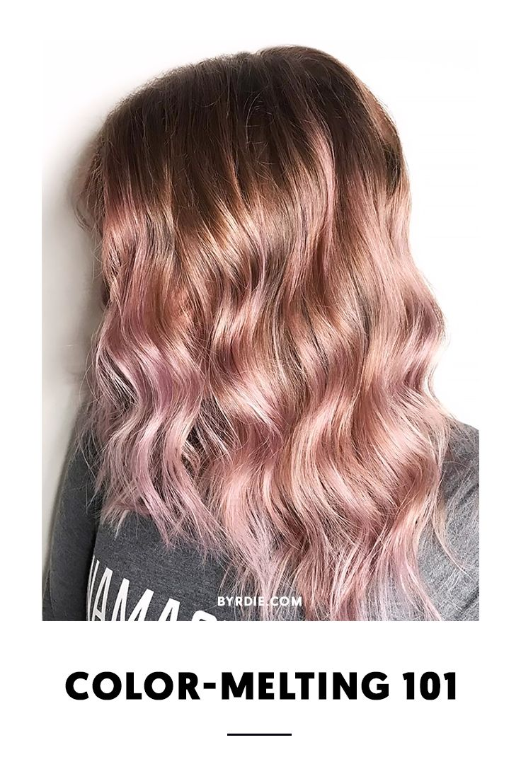 How to color melt your hair