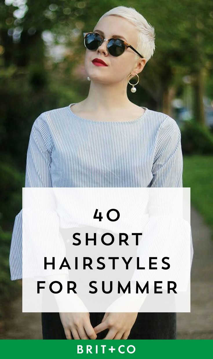 Slay short hair this summer with these 40 fab short hairstyles.