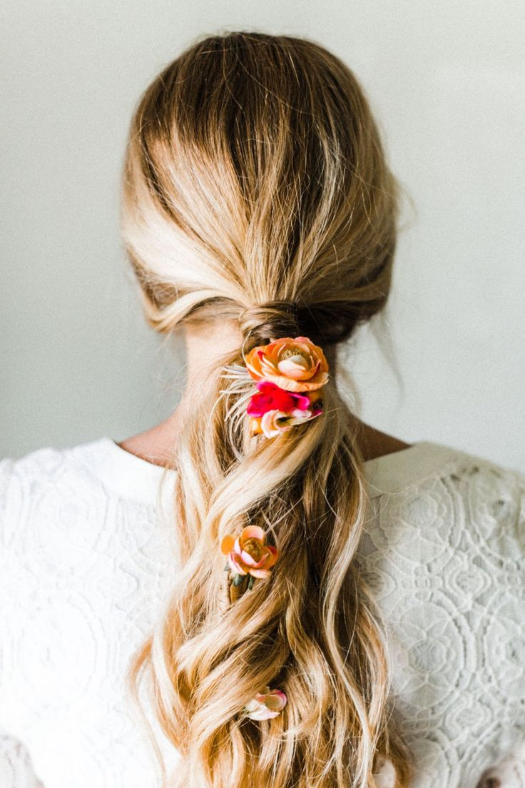 Tuck blooms into your 'do