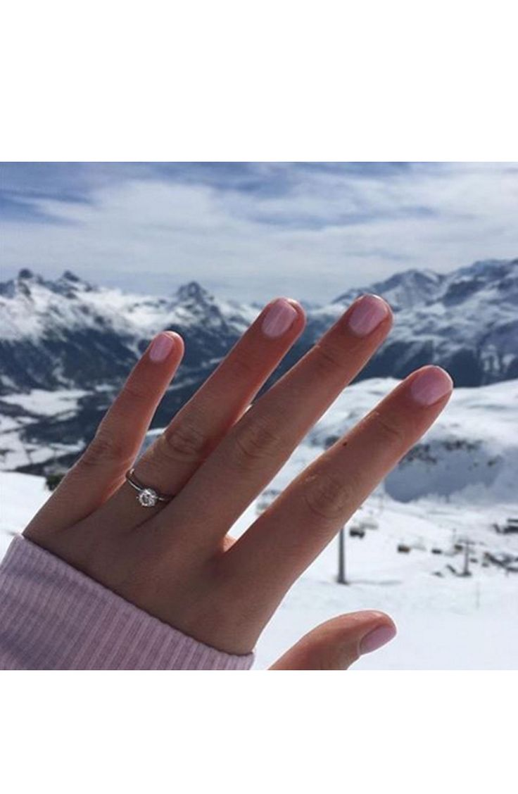 A snow covered ring selfie: www.stylemepretty...