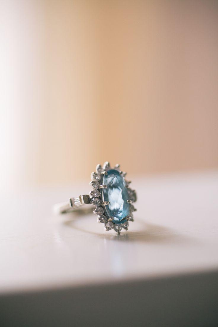 Beautiful aquamarine engagement ring: www.stylemepretty...