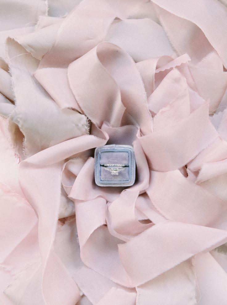 Blush ribbon filled ring shot: www.stylemepretty...