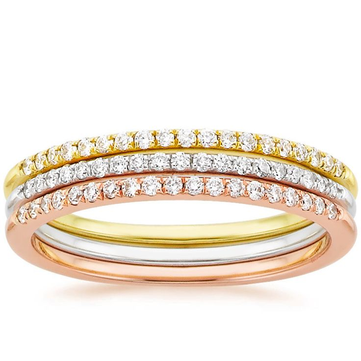 Brilliant Earth Whisper Diamond Ring Stack www.stylemepretty...