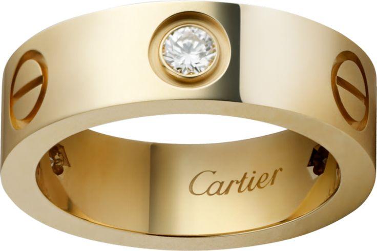 Cartier Love Ring with Three Diamonds: www.stylemepretty...