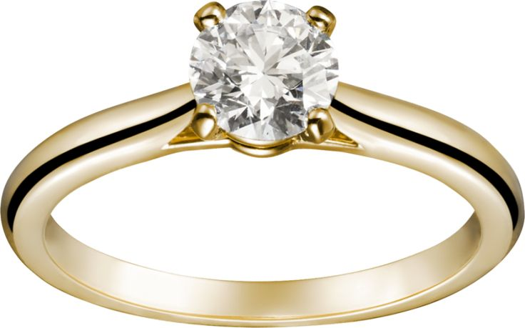 Cartier Yellow Gold Solitaire Ring: www.stylemepretty...