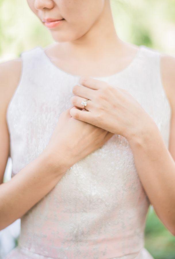 Classic emerald cut diamond engagement ring: www.stylemepretty... | Photography:...
