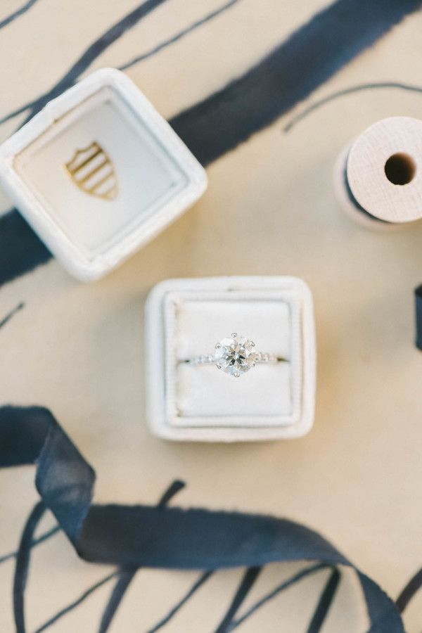 Classic solitaire engagement ring: www.stylemepretty... | Photography: Elizabeth...