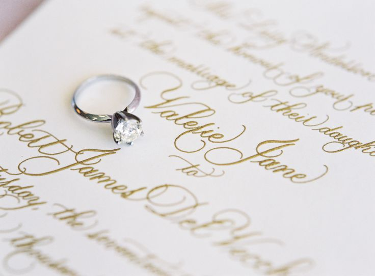 Classic solitaire engagement ring: www.stylemepretty... | Photography: Graham Te...