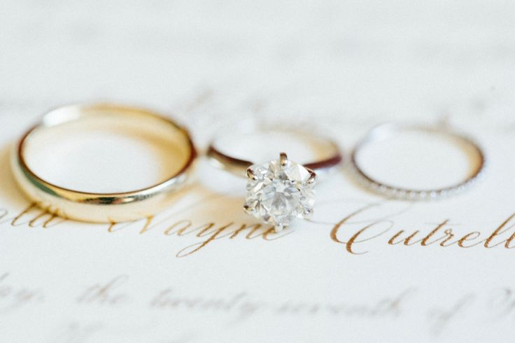 Classic solitaire engagement ring: www.stylemepretty...    Photography: Jacqui C...