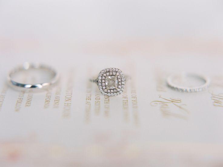 Double halo engagement ring: www.stylemepretty... | Photography: Carmen Santorel...