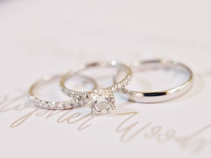 Dreamy solitaire diamond engagement ring: Photography : Amy Arrington Photograph...