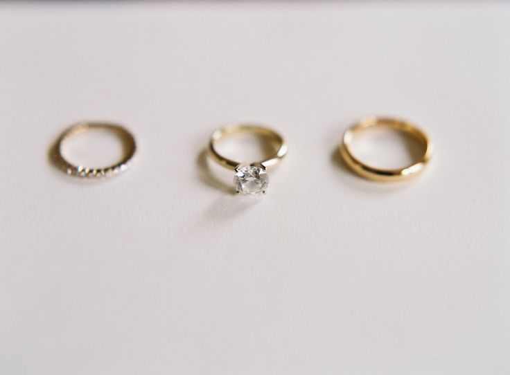 Gold solitaire engagement ring: www.stylemepretty... | Photography: Carmen Santo...