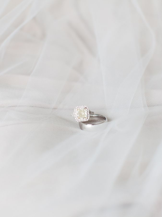 Gorgeous cushion cut double halo engagement ring: www.stylemepretty... | Photogr...