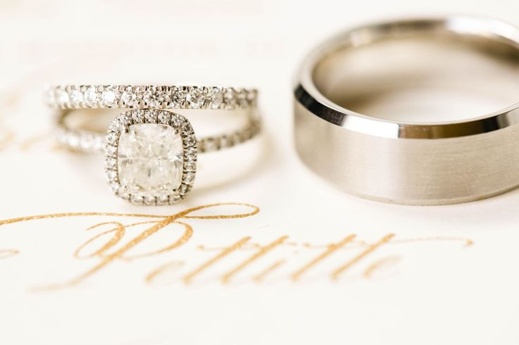 Gorgeous cushion cut engagement ring: www.stylemepretty...   Photography: ALLEEJ...