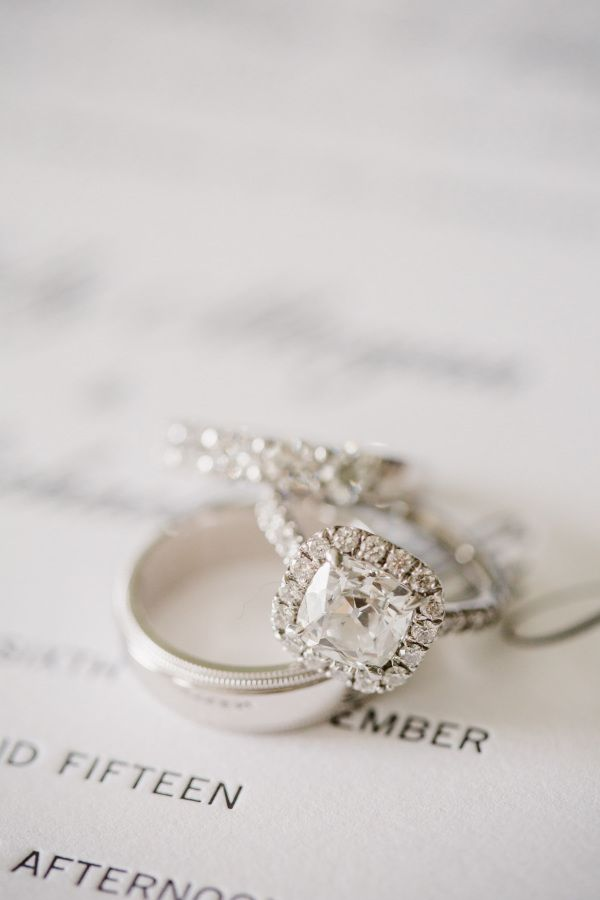 Gorgeous cushion cut engagement ring: www.stylemepretty... | Photography: Shanno...