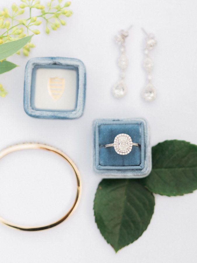 Gorgeous double halo engagement ring: www.stylemepretty...   Photography: Elyse ...