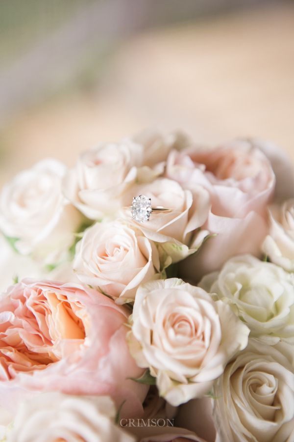 Gorgeous flower-filled ring shot: www.stylemepretty...   Photography: Crimson Ph...