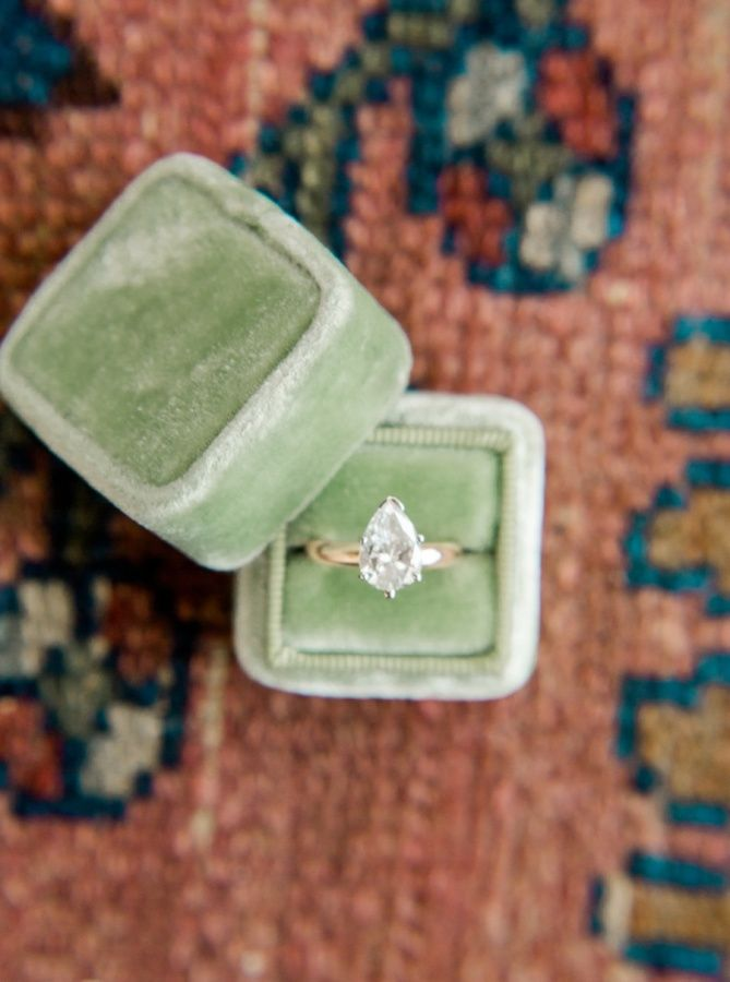 Gorgeous pear shaped engagement ring: www.stylemepretty... | Photography: This G...