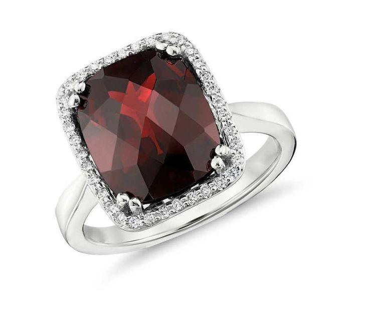 Gorgeous red garnet birthstone engagement ring: www.stylemepretty...