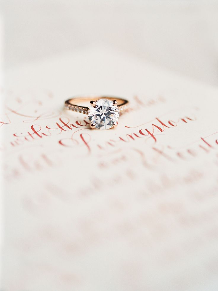Gorgeous rose gold solitaire engagement ring: Photography : Stephanie Brazzle Ph...