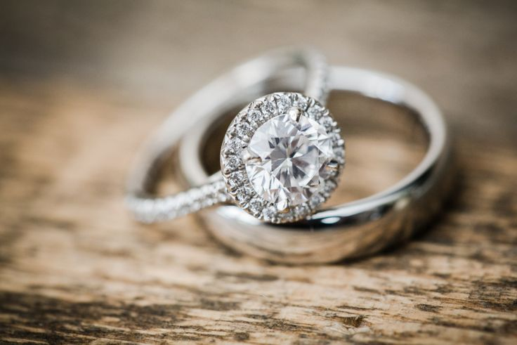 Gorgeous round-cut halo engagement ring: www.stylemepretty... | Photography: Ale...